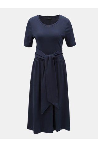 Rochie albastru inchis cu snur in talie Selected Femme