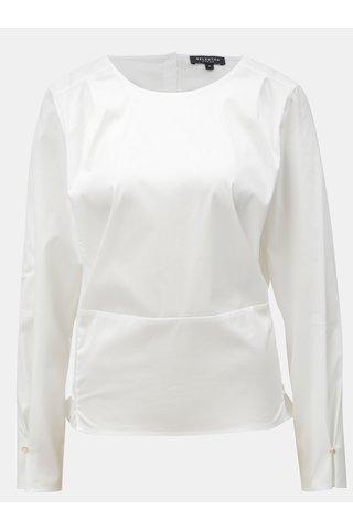 Bluza alba cu snur Selected Femme
