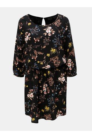 Rochie florala neagra cu decupaj la spate Jacqueline de Yong