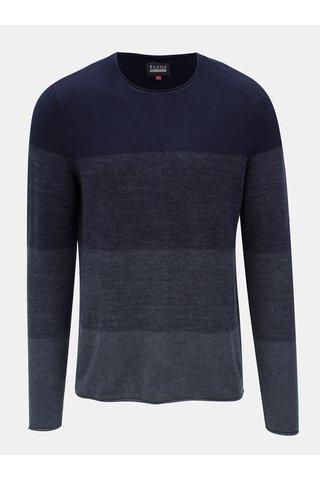 Tmavě modrý žíhaný svetr Blend