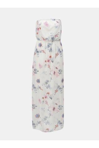 Rochie maxi roz-alb cu model floral Haily´s