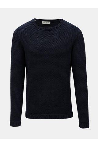Tmavě modrý svetr s kulatým výstřihem  Selected Homme Victor