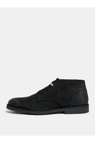 Černé semišové kotníkové boty Selected Homme Royce