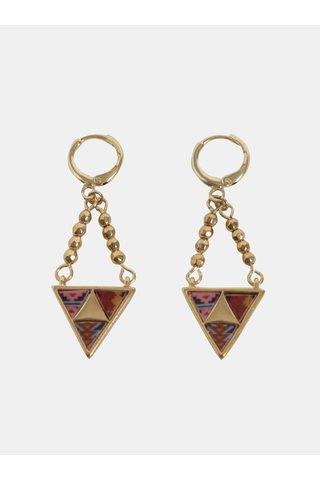Cercei aurii cu model geometric Desigual Peruvian