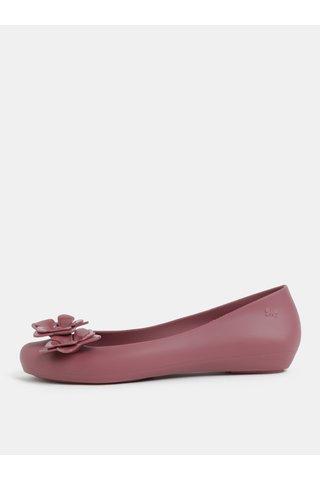 Balerini roz prafuit cu aplicatie florala pe varf Zaxy Flower