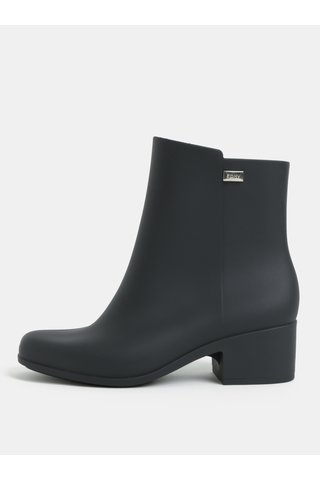 Ghete negre cu toc mic Zaxy Close boot