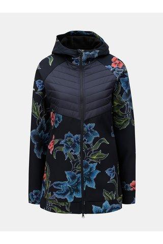 Jacheta albastru inchis softshell cu model cu detalii matlasate Desigual