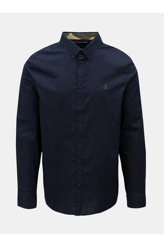 Tmavě modrá košile s dlouhým rukávem Original Penguin Poplin