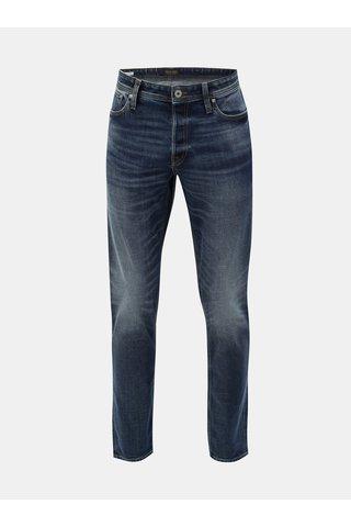 Modré žíhané comfort fit džíny s vyšisovaným efektem Jack & Jones Original