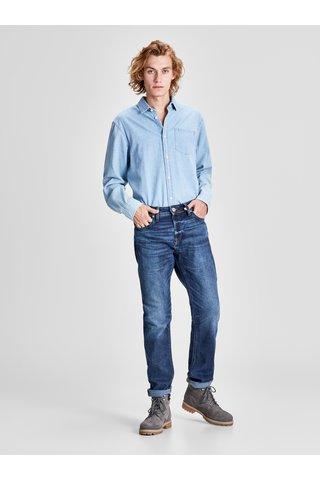 Blugi comfort fit albastri melanj din denim cu aspect prespalat Jack & Jones Original