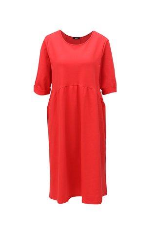 Červené oversize šaty s volánem ZOOT