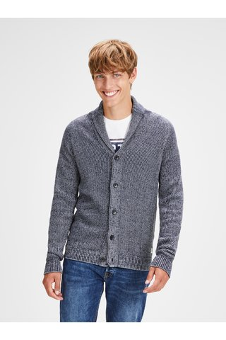Šedý žíhaný kardigan Jack & Jones Knit