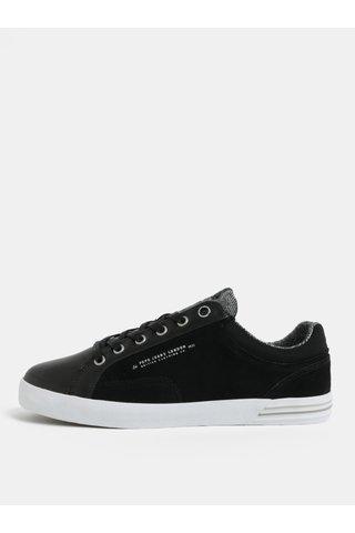 Černé pánské kožené tenisky Pepe Jeans North