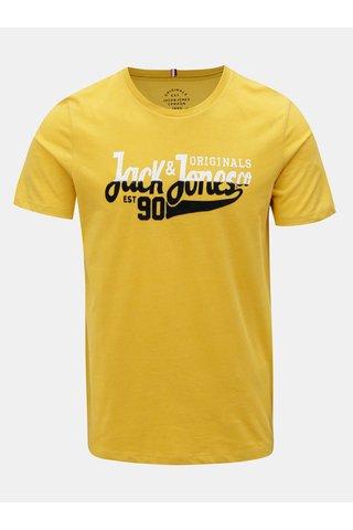Žluté tričko s potiskem Jack & Jones Izzle Tee