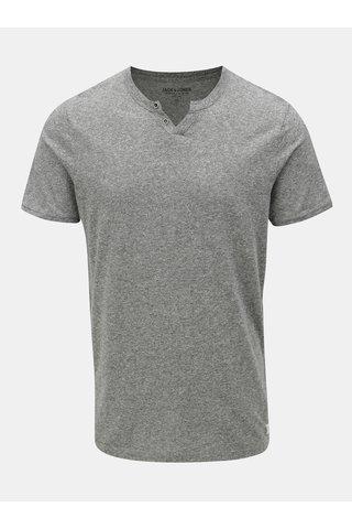 Šedé žíhané tričko s krátkým rukávem Jack & Jones Ranco Tee