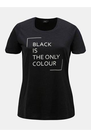 Tricou negru cu print Zizzi Dodo