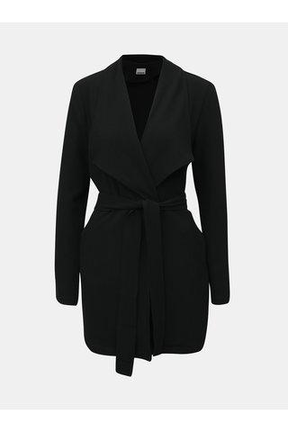 Černé dlouhé sako se zavazováním Noisy May Ronnie