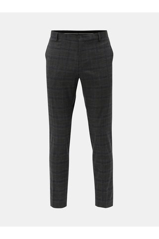 Pantaloni formali gri in carouri Selected Homme
