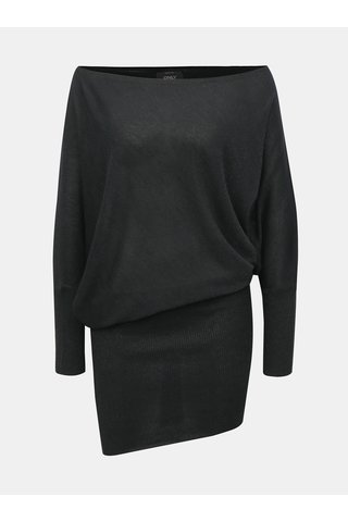 Černé třpytivé asymetrické šaty ONLY Janni