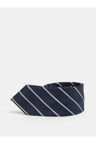 Cravata slim albastru inchis in dungi Selected Homme Valdemar