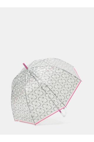 Umbrela automata transparenta cu terminatie roz Rainy Seasons