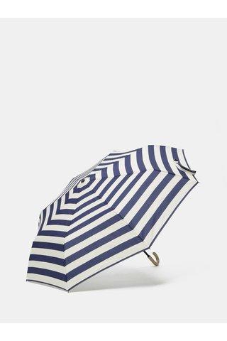 Umbrela crem-albastru inchis in dungi Rainy Seasons