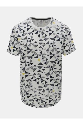 Tricou alb cu print geometric ONLY & SONS Gene