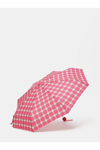 Umbrela telescopica gri-roz cu buline Rainy Seasons