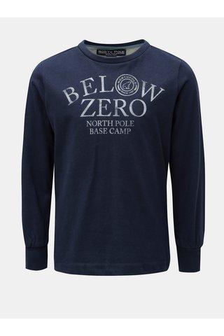 Tmavě modré klučičí tričko s potiskem North Pole Kids