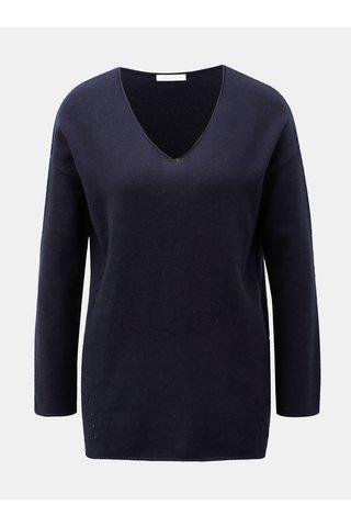 Tmavě modrý svetr s příměsí vlny a kašmíru Yerse