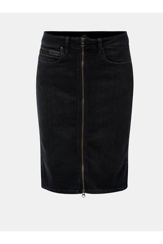 Černá džínová sukně Lee