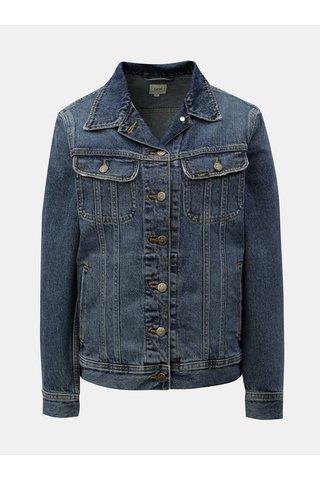 Modrá dámská žíhaná džínová bunda Lee