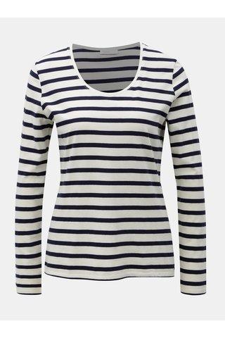 Modro-krémové pruhované tričko Yerse