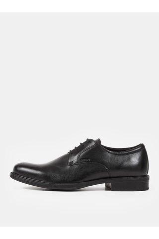Pantofi barbatesti negri din piele Geox Carnaby
