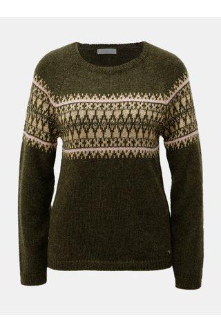 Hnědý třpytivý svetr s příměsí mohéru Yerse