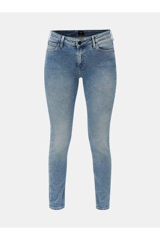 Světle modré skinny džíny s vyšisovaným efektem Lee
