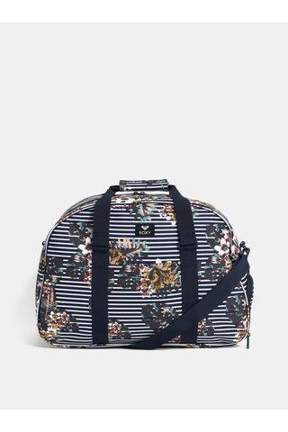 Modrá pruhovaná cestovní taška Roxy Long