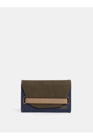Zeleno-modrá koženková peněženka Roxy Beach