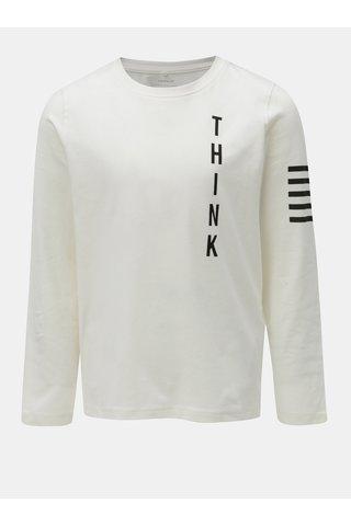 Bílé klučičí tričko s potiskem Name it Okyo