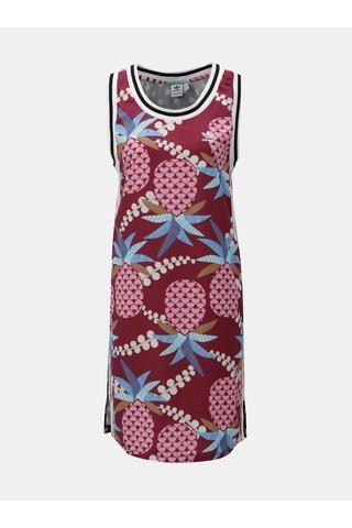 Rochie albastru-visiniu cu model adidas Originals