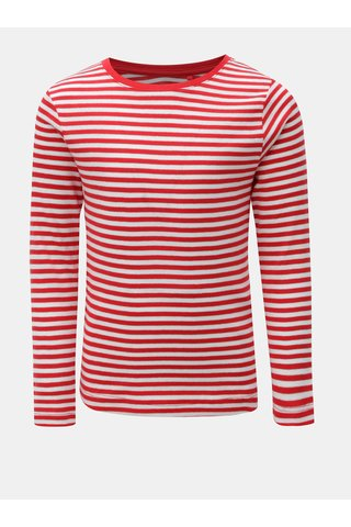 Bílo-červené holčičí pruhované tričko Name it Verit