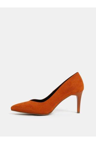 Pantofi oranj cu aspect de piele intoarsa OJJU