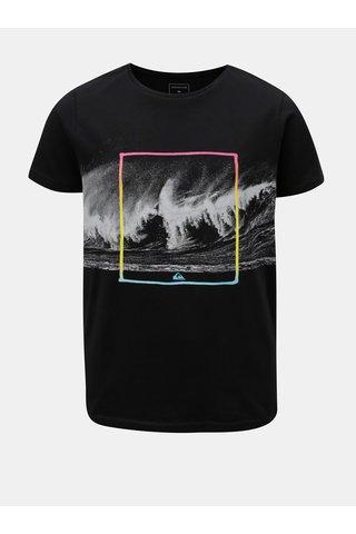 Šedo-černé klučičí regular fit tričko s potiskem Quiksilver
