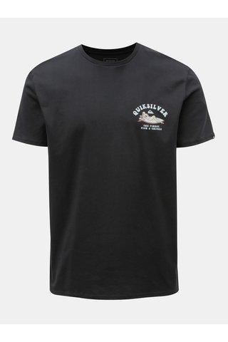 Tricou barbatesc regular fit negru cu print la spate Quiksilver