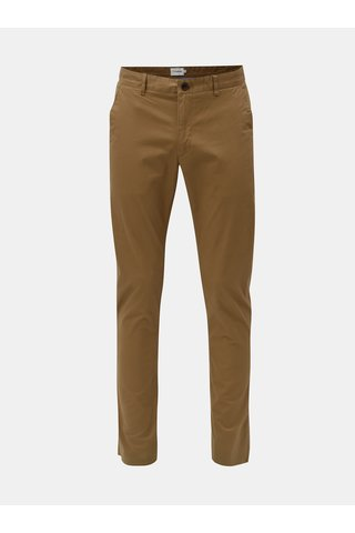 Pantaloni chino maro Farah Twill