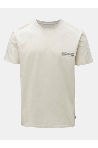 Tricou barbatesc bej modern fit cu print la spate Quiksilver