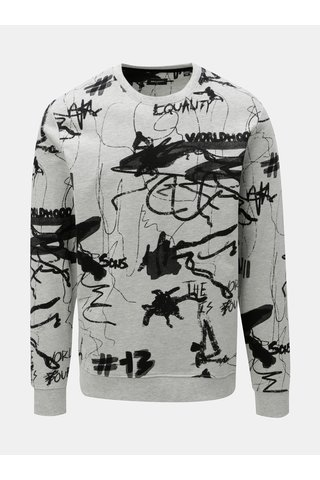 Bluza sport negru-gri cu model ONLY & SONS