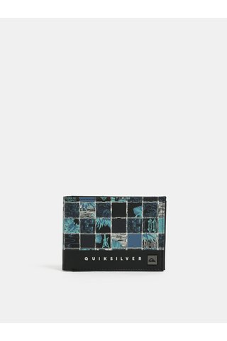 Portofel barbatesc albastru-negru cu model Quiksilver