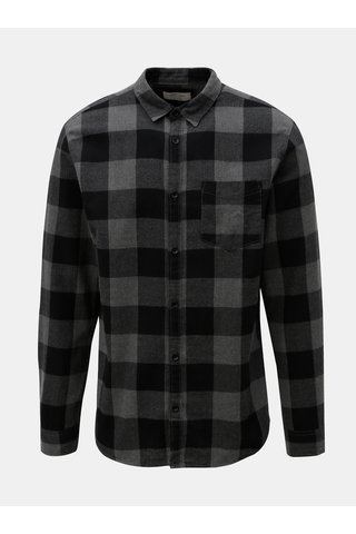 Camasa negru-gri in carouri Jack & Jones