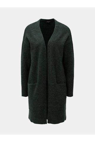 Cardigan verde inchis cu amestec de lana si mohair Selected Femme Livana
